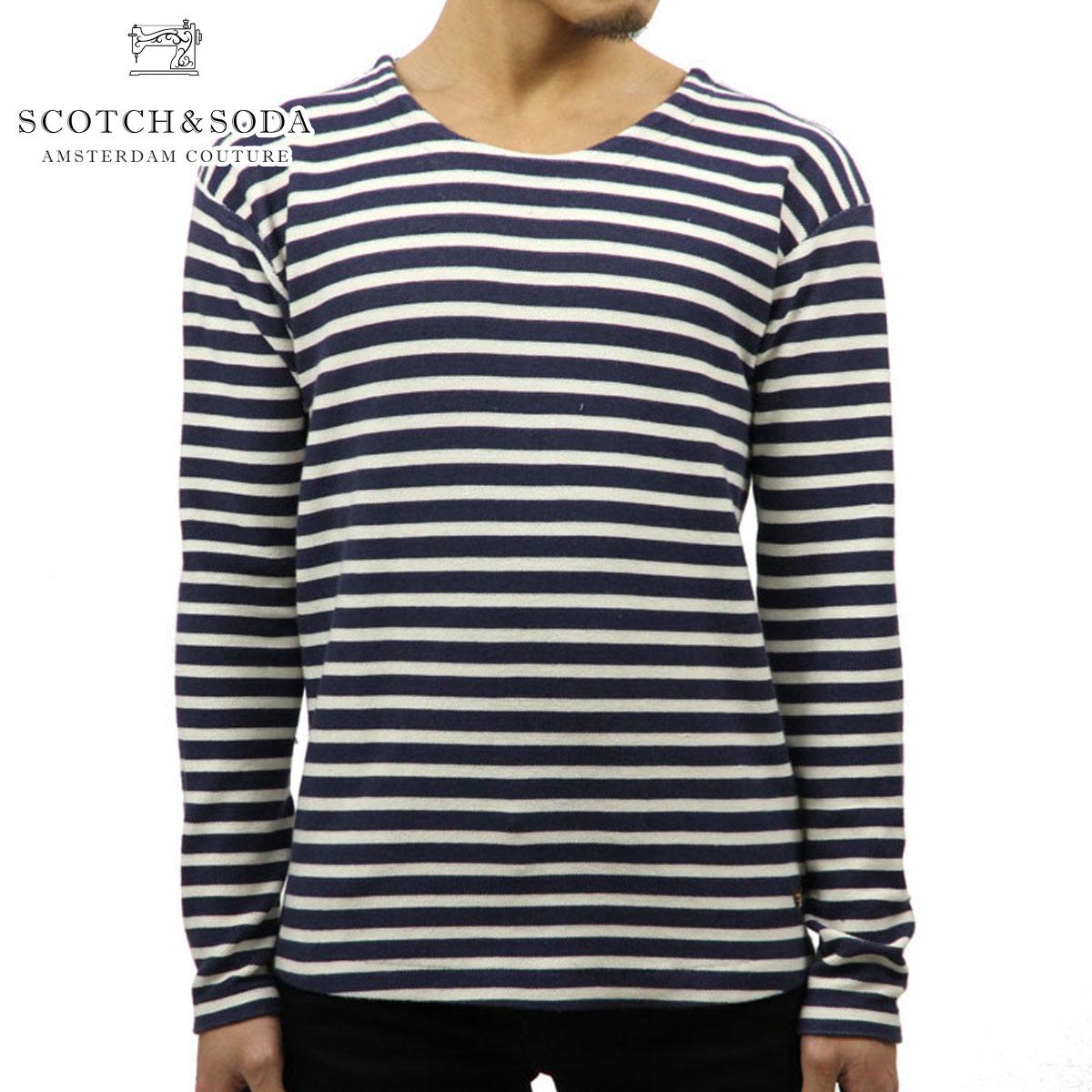 スコッチアンドソーダ SCOTCH&SODA 正規販売店 メンズ 長袖Tシャツ STRIPED PIQUZ T-SHIRT 136442 0220 COMBO D D00S15