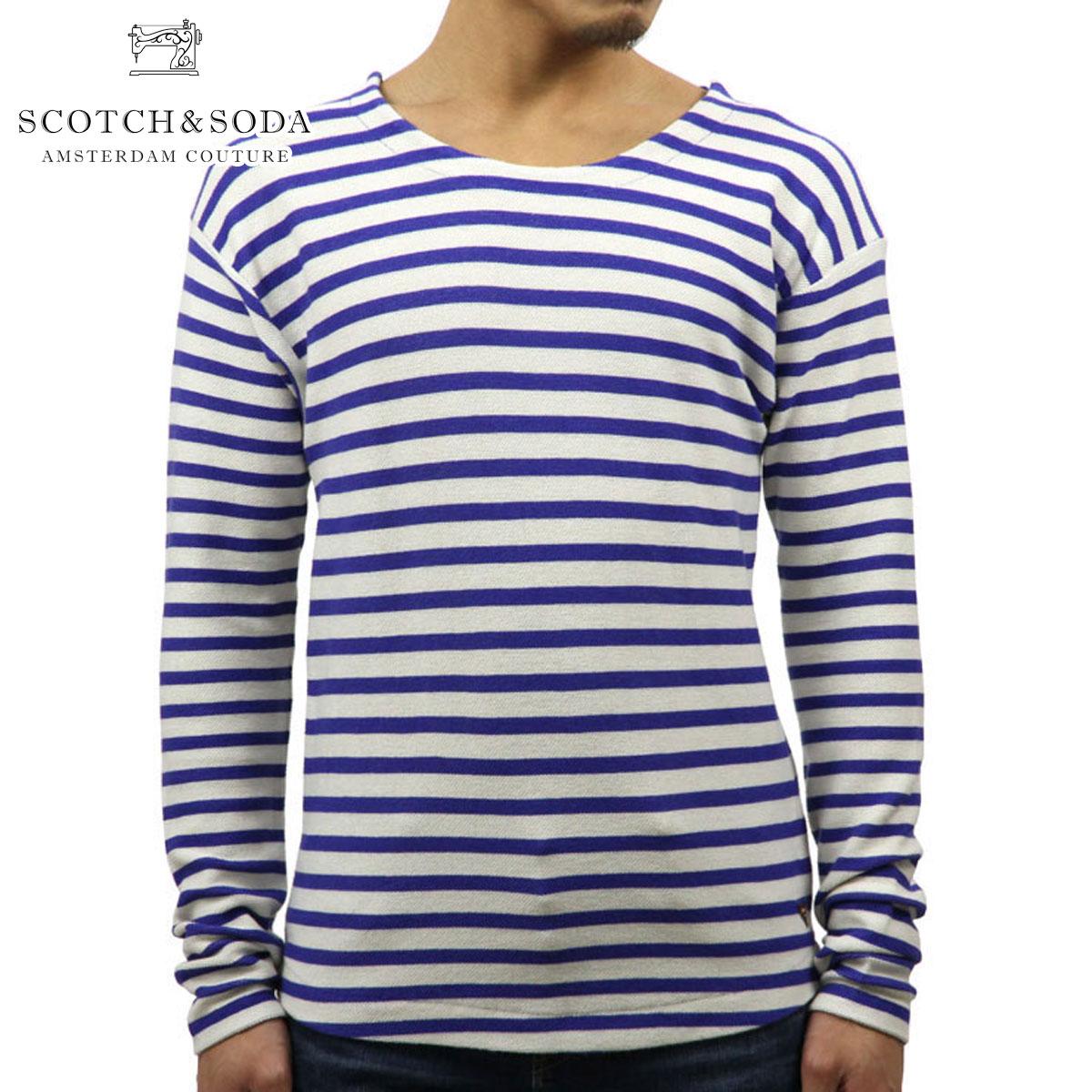スコッチアンドソーダ SCOTCH&SODA 正規販売店 メンズ 長袖Tシャツ STRIPED PIQUZ T-SHIRT 136442 0218 COMBO B D00S15