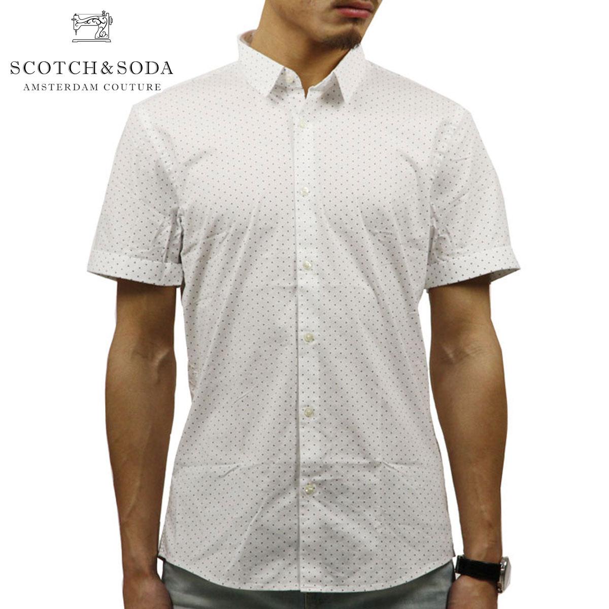スコッチアンドソーダ SCOTCH&SODA 正規販売店 メンズ 半袖ドレスシャツ CLASSIC SHORTSLEEVE SHIRT 136336 0218 COMBO B