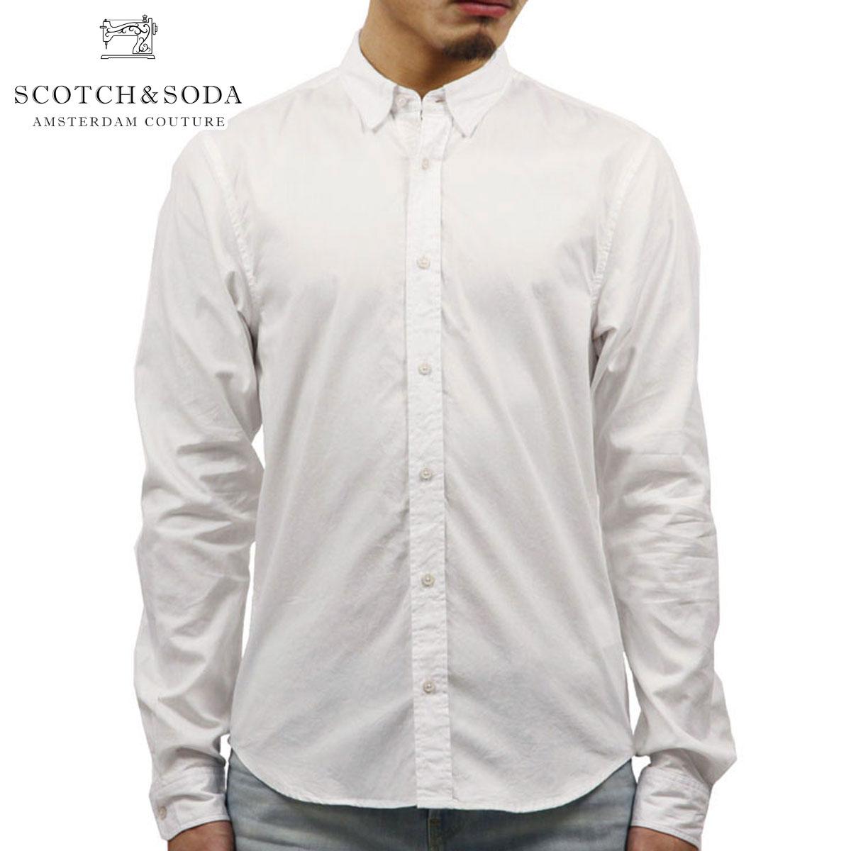 スコッチアンドソーダ SCOTCH&SODA 正規販売店 メンズ 長袖シャツ CLASSIC DENIM SHIRT 136314 0102 DENIM W