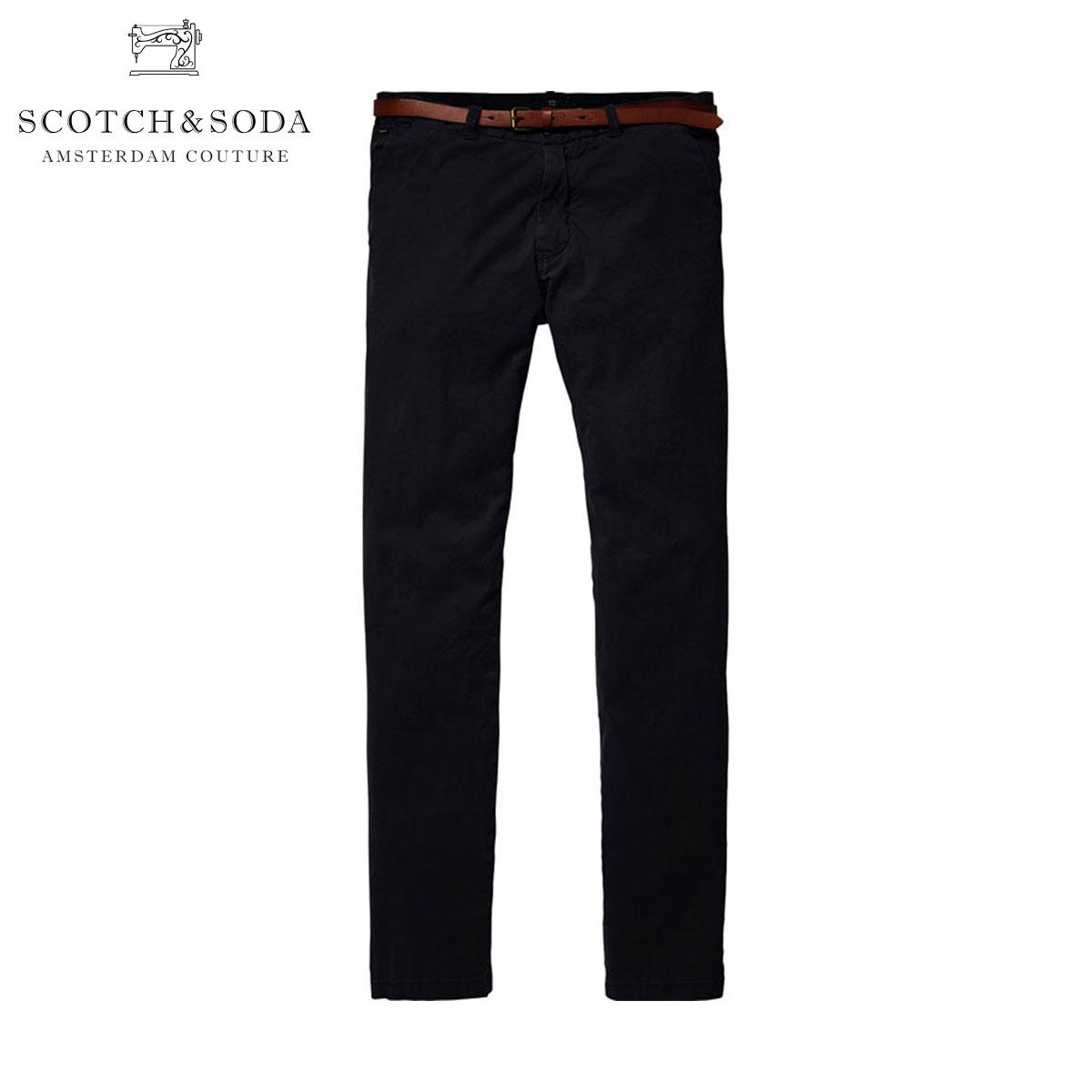 スコッチアンドソーダ SCOTCH&SODA 正規販売店 メンズ チノパン STRETCH COTTON CLASSIC CHINO PANT 136199 0008 BLACK