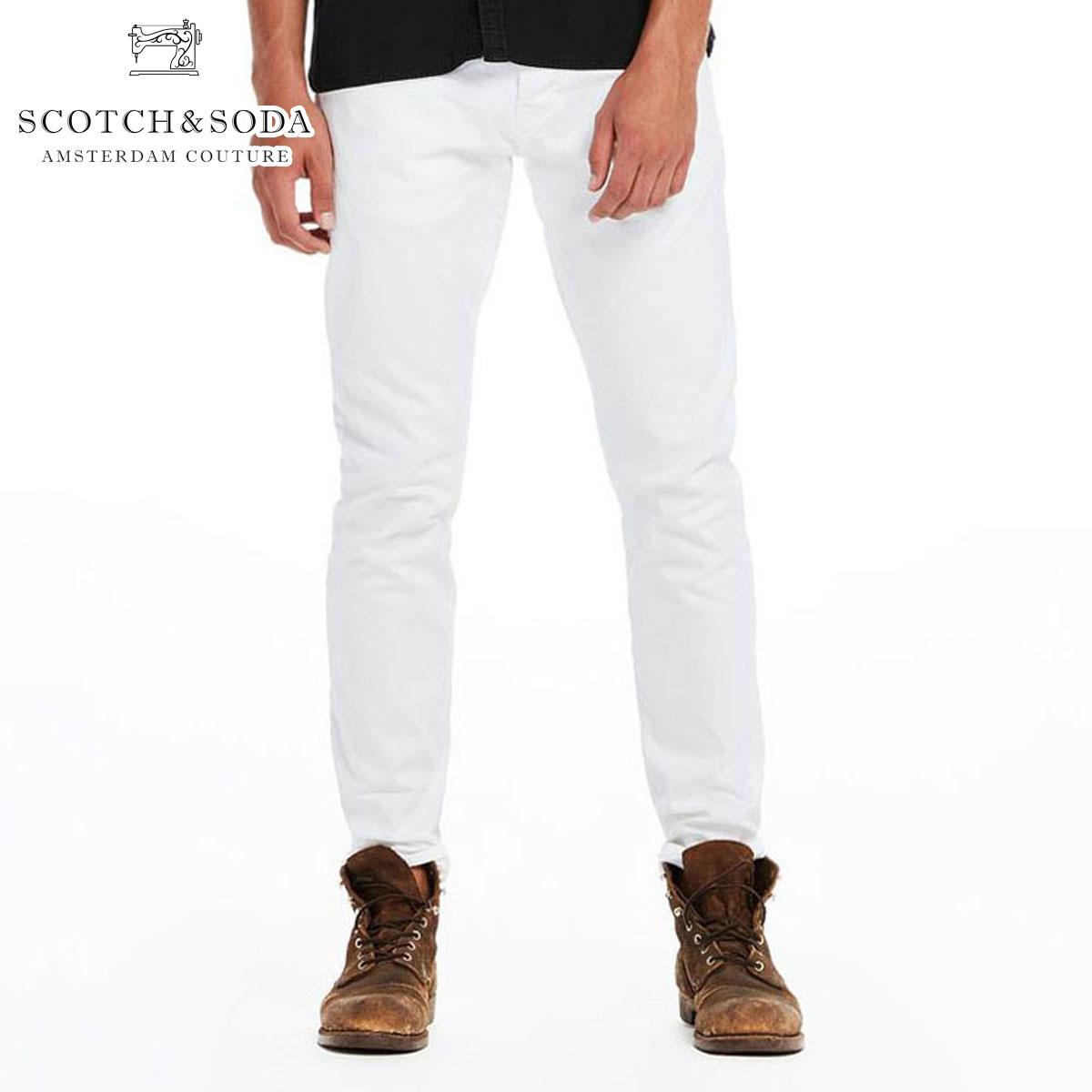 スコッチアンドソーダ SCOTCH&SODA 正規販売店 メンズ ジーンズ RALSTON GARMENT DYED COLOURS DENIM PANTS 135058 00 WHITE