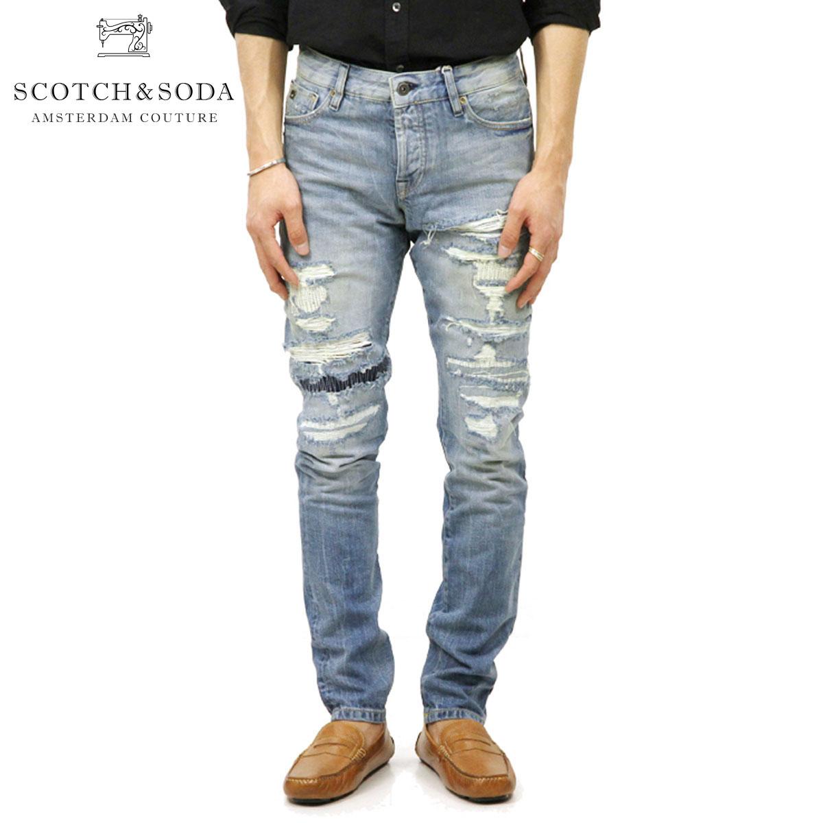 スコッチアンドソーダ SCOTCH&SODA 正規販売店 メンズ ジーンズ RALSTON JEANS - HERO 1 REGULAR SLIM FIT 135075 1E HERO ON