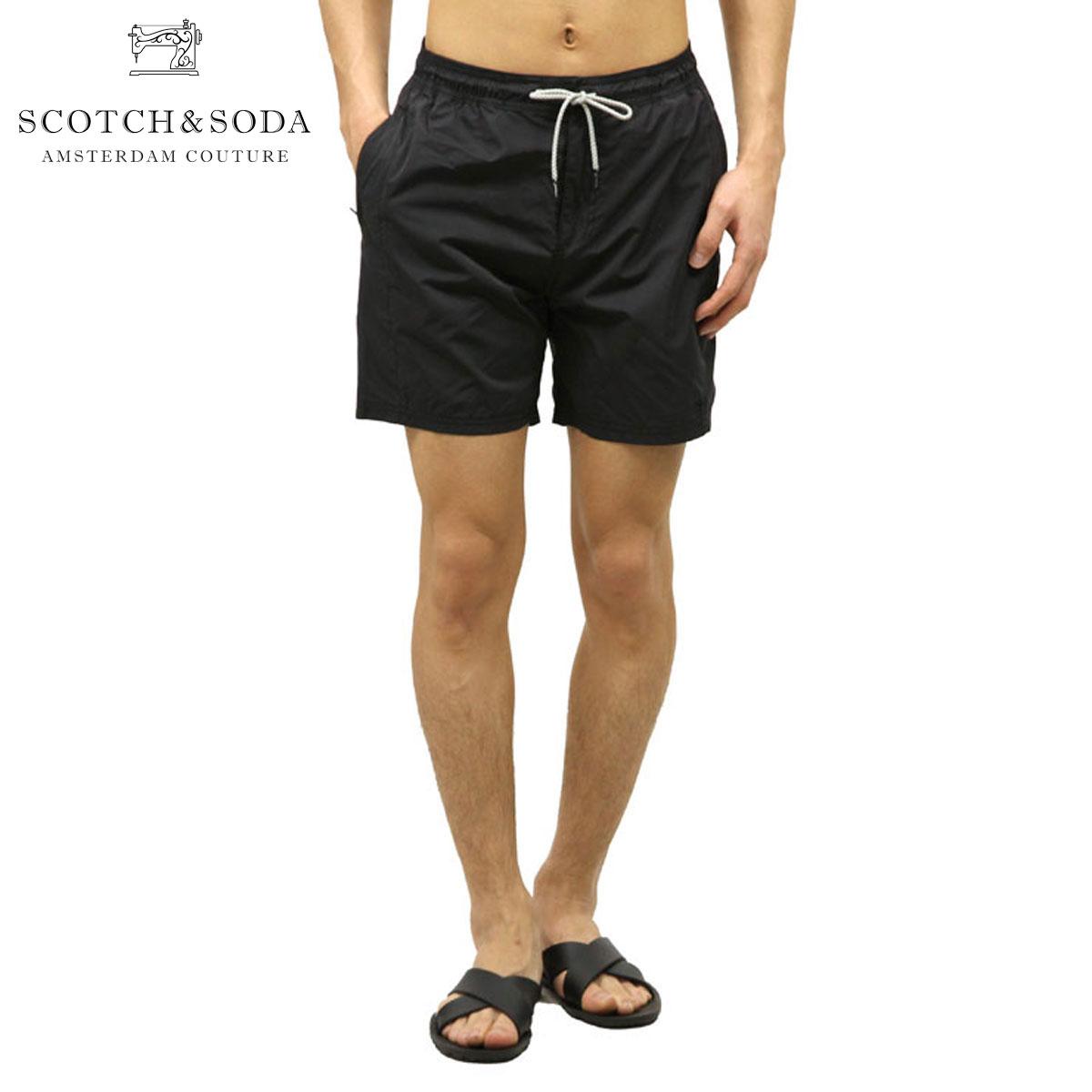 スコッチアンドソーダ SCOTCH&SODA 正規販売店 メンズ スイムパンツ SEWN WAISTBAND SWIM SHORT 136696 0008 BLACK