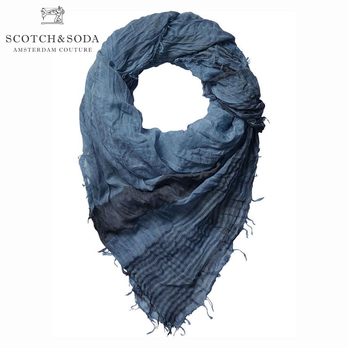 スコッチアンドソーダ SCOTCH&SODA 正規販売店 スカーフ COLD DYED SQUARE SCARF 136607 0134 WASHED