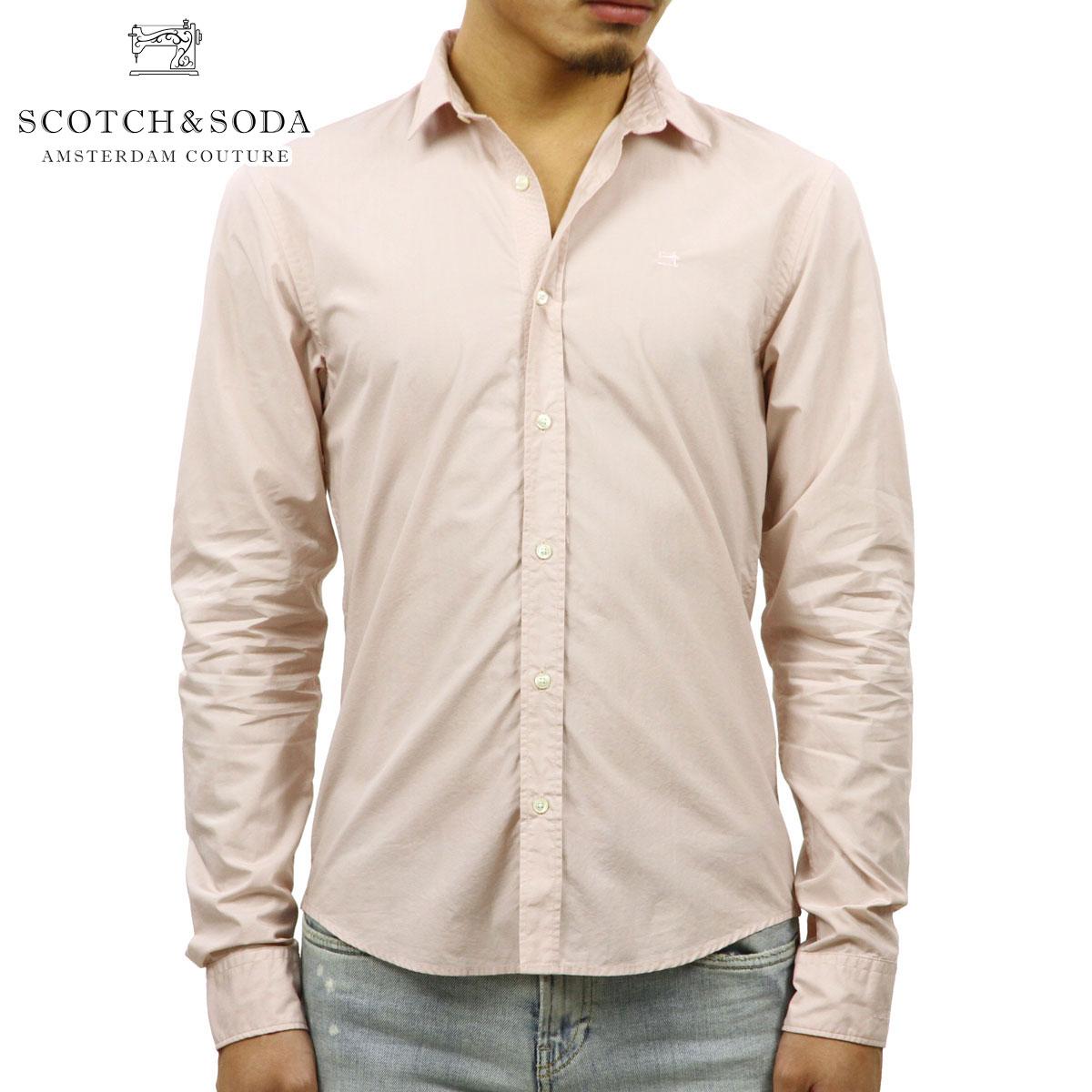スコッチアンドソーダ SCOTCH&SODA 正規販売店 メンズ 長袖ドレスシャツ CRISPY POPLIN CLASSIC SHIRT 139561 1536 41409 SHELL