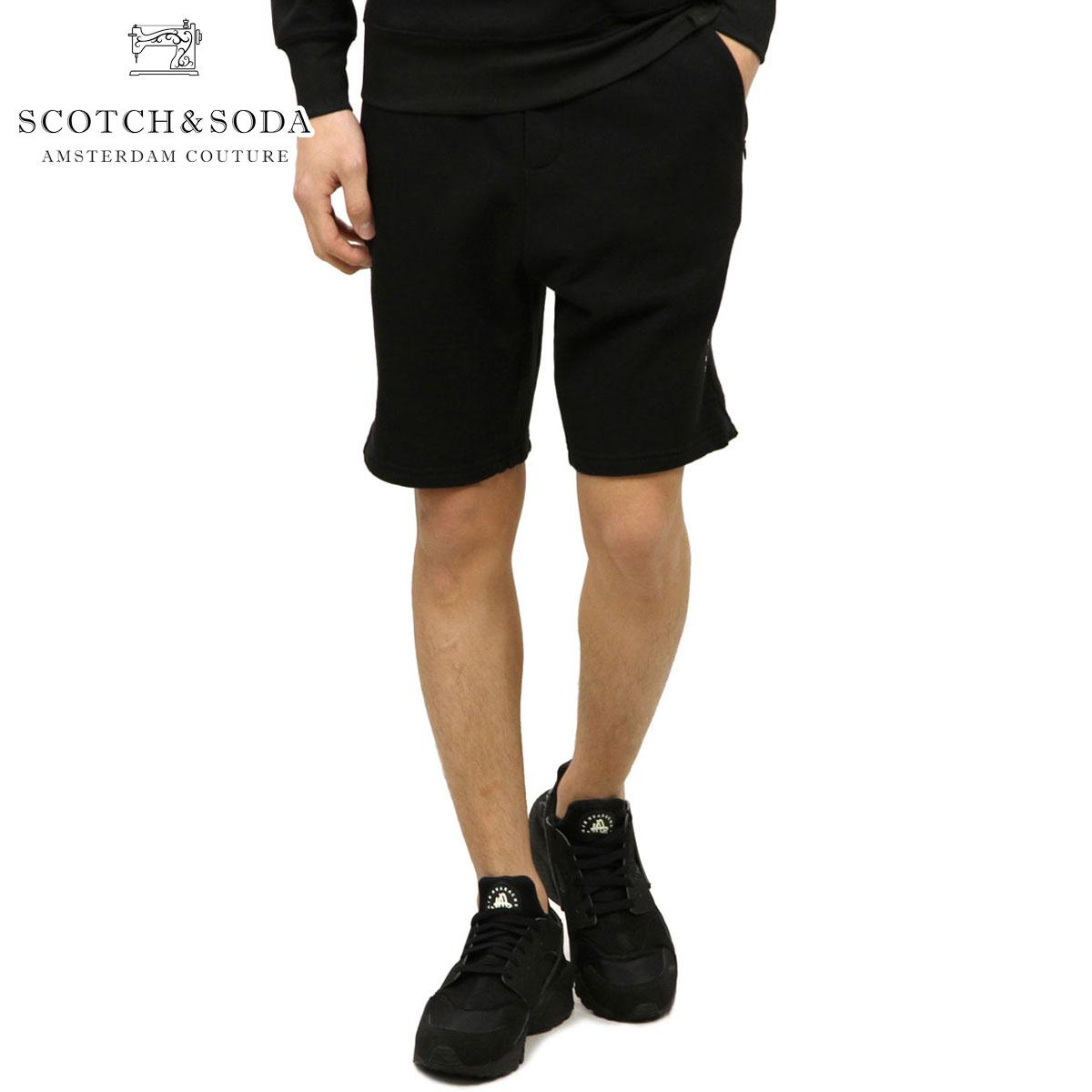 スコッチアンドソーダ スウェット メンズ 正規販売店 SCOTCH&SODA トレーナー ハーフパンツ CLUB NOMADE SWEAT SHORT 141238 90 52500 BLACK D