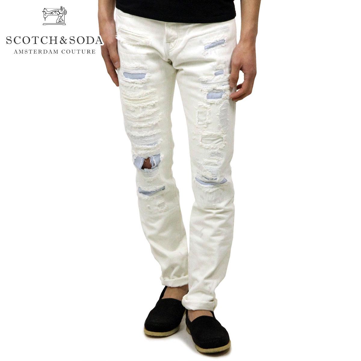 スコッチアンドソーダ SCOTCH&SODA 正規販売店 メンズ ジーンズ LOT 22 RALSTON - WHITE GLAZE 141162 1788 55504 WHITE G D
