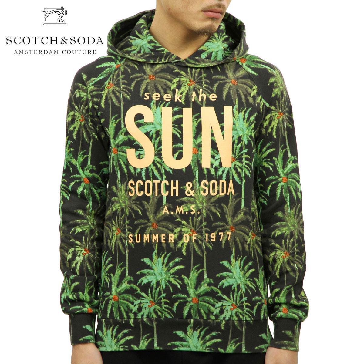 スコッチアンドソーダ SCOTCH&SODA 正規販売店 メンズ プルオーバーパーカー HOODIE WITH PALM TREE ALL-OVER PRINT 142589 0217 53829 COMBO A