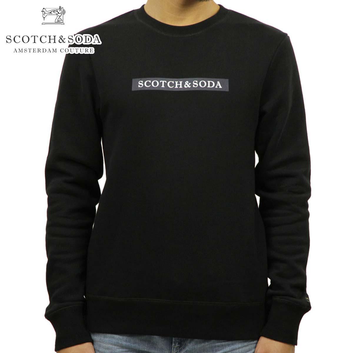 スコッチアンドソーダ SCOTCH&SODA 正規販売店 メンズ クルーネック スウェット CLEAN CREWNECK SWEAT 145482 0008 63833 BLACK
