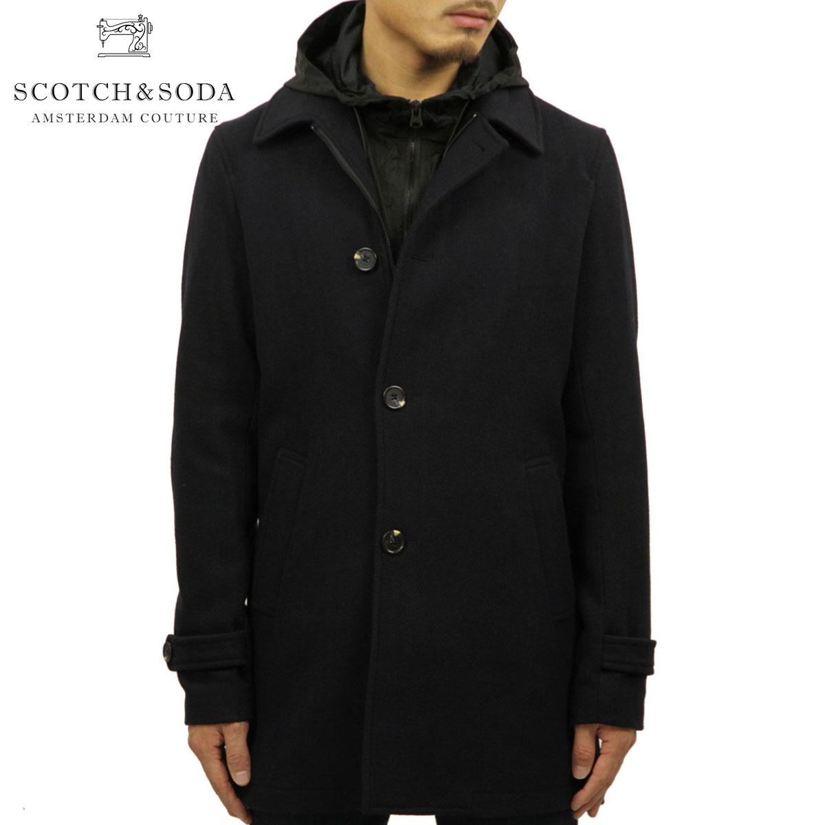 スコッチアンドソーダ SCOTCH&SODA 正規販売店 メンズ アウター トレンチコート CLASSIC WOOL BLEND COAT JACKET 145174 0002 61133 NIGHT