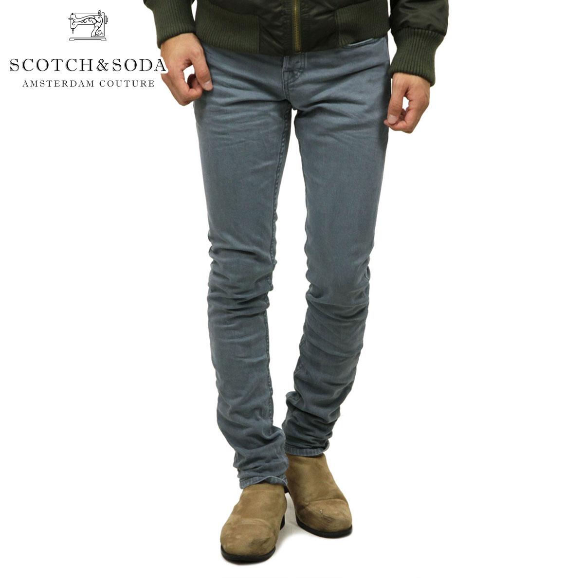 スコッチアンドソーダ SCOTCH&SODA 正規販売店 メンズ デニムパンツ RALSTON - CLASSIC 5-POCKET GARMENT-DYED PANT 145304 2395 65508 SKI BLUE