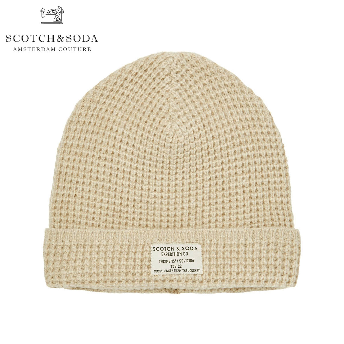 12197d4ac Scotch Whiskey and soda SCOTCH & SODA regular store beanie knit hat hat  CLASSIC BEANIE IN STRUCTURED KNIT 145682 0831 68800 KIT
