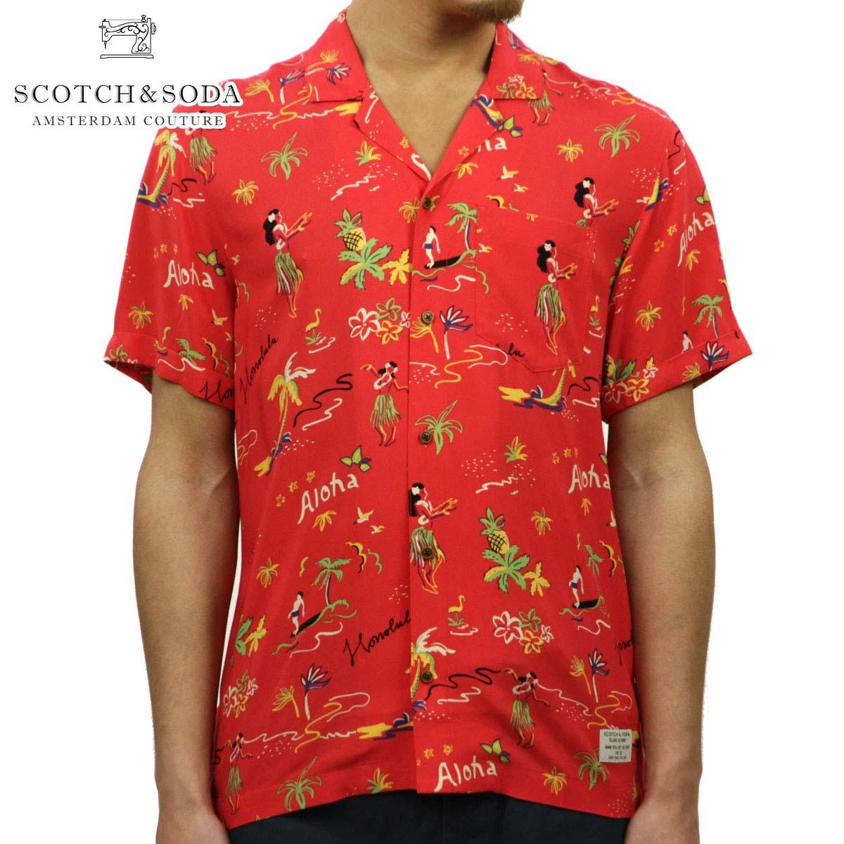 スコッチアンドソーダ SCOTCH&SODA 正規販売店 メンズ 半袖開襟シャツ オープンカラーシャツ HAWAIIAN FIT ALL OVER PRINTED HAWAII SHIRT 148931 0217 COMBO A