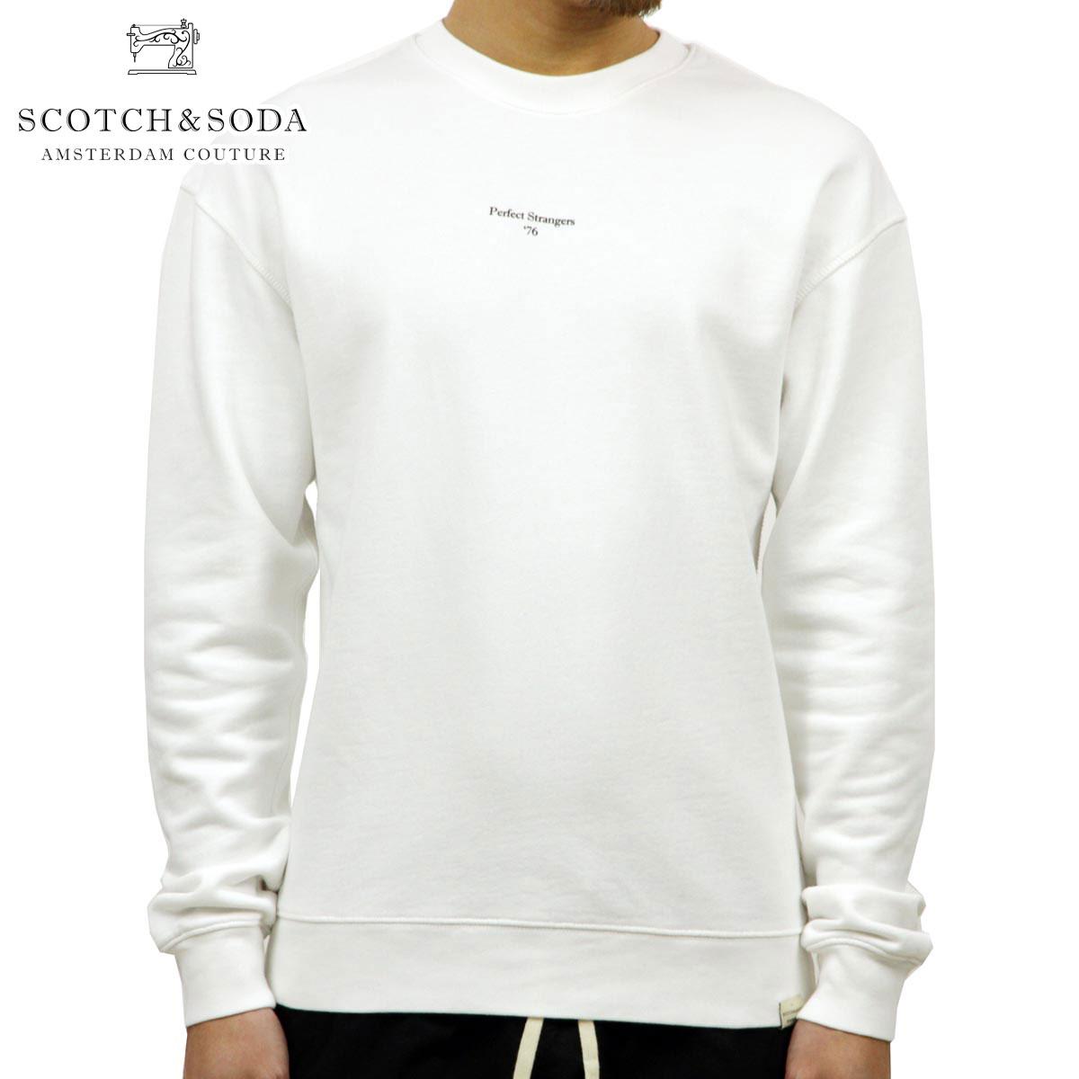 スコッチアンドソーダ SCOTCH&SODA 正規販売店 メンズ 無地 スウェット ORGANIC COTTON FELPA LOOSE FIT CREWNECK SWEAT 148722 0006 WHITE