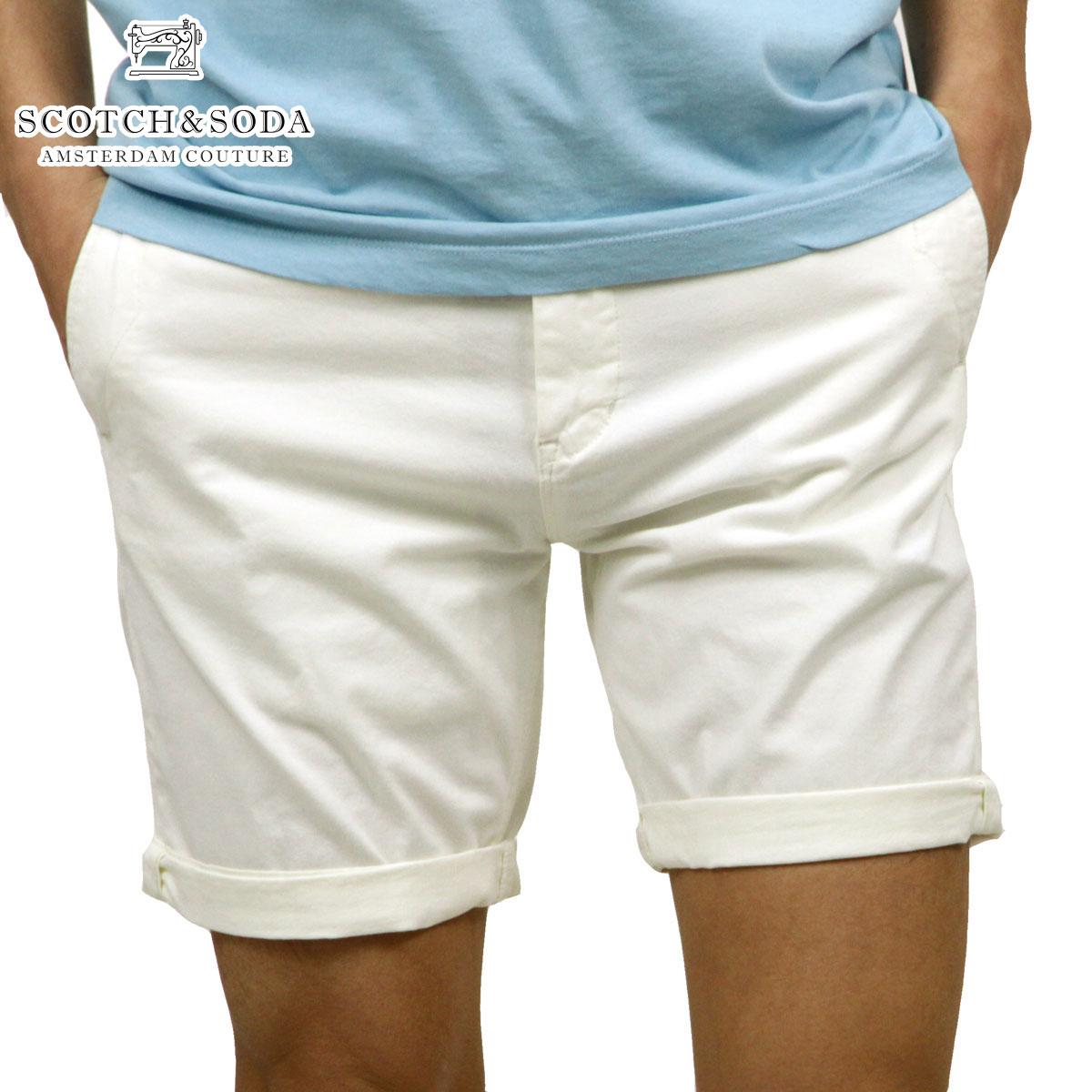スコッチアンドソーダ SCOTCH&SODA 正規販売店 メンズ チノ ハーフパンツ CLASSIC CHINO SHORT PANTS 148906 0102 DENIM WHITE