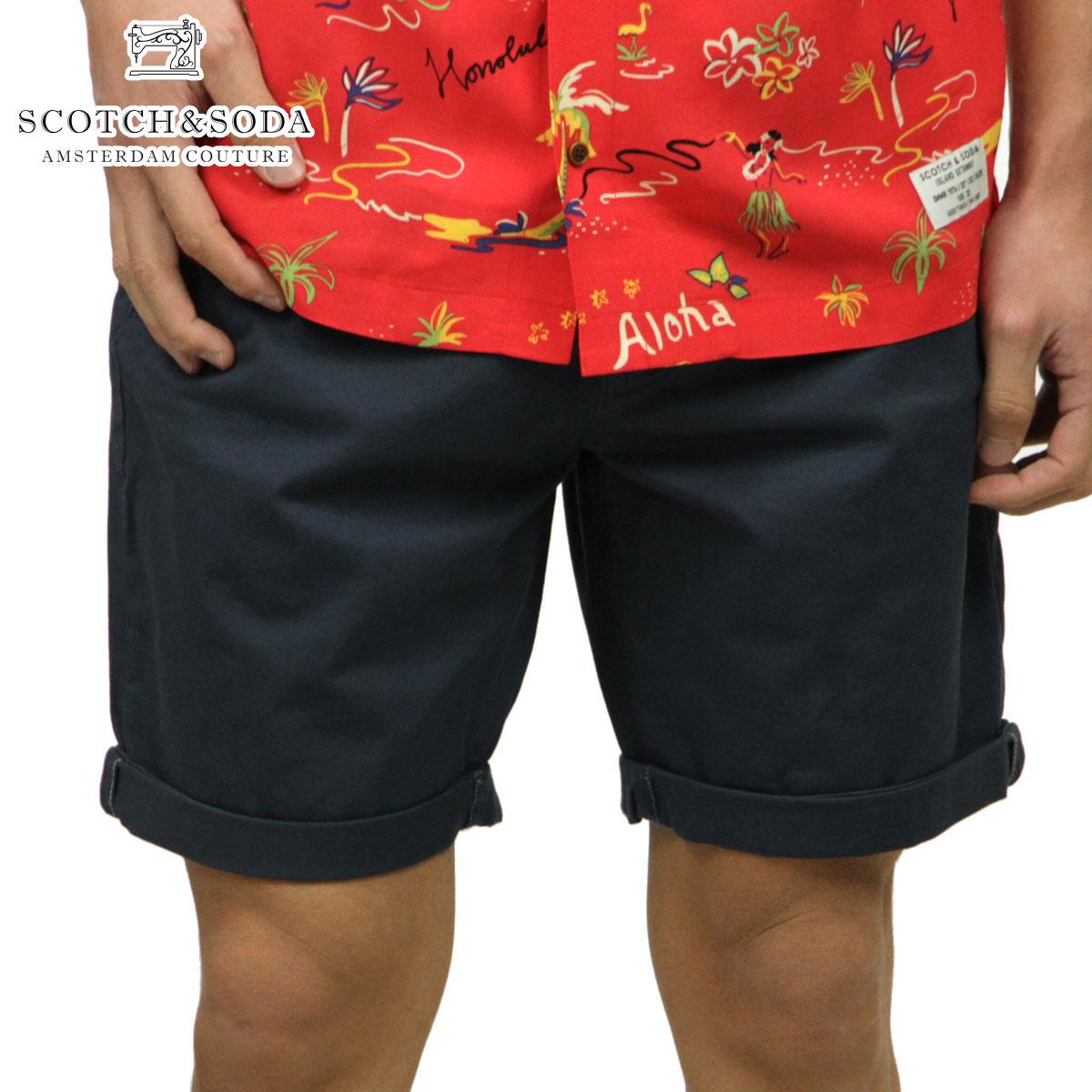 スコッチアンドソーダ SCOTCH&SODA 正規販売店 メンズ チノ ハーフパンツ CLASSIC CHINO SHORT PANTS 148906 0562 STEEL