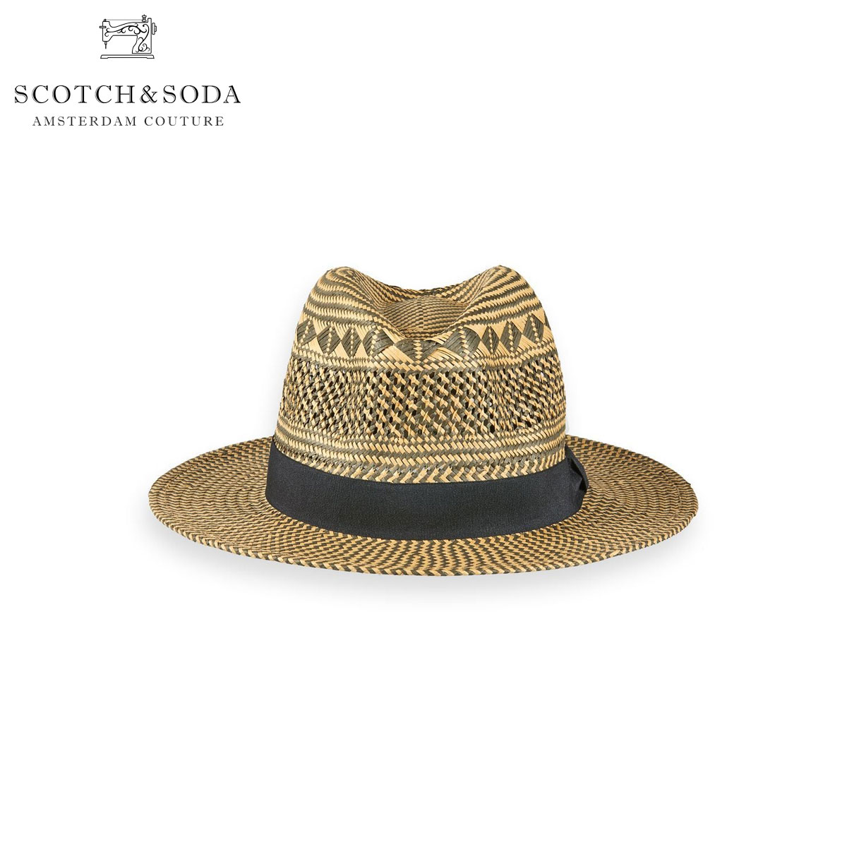 スコッチアンドソーダ SCOTCH&SODA 正規販売店 メンズ レディース 帽子 麦わら帽 ストローハット CHIC PATTERNED STRAW HAT 149170 0217 COMBO A