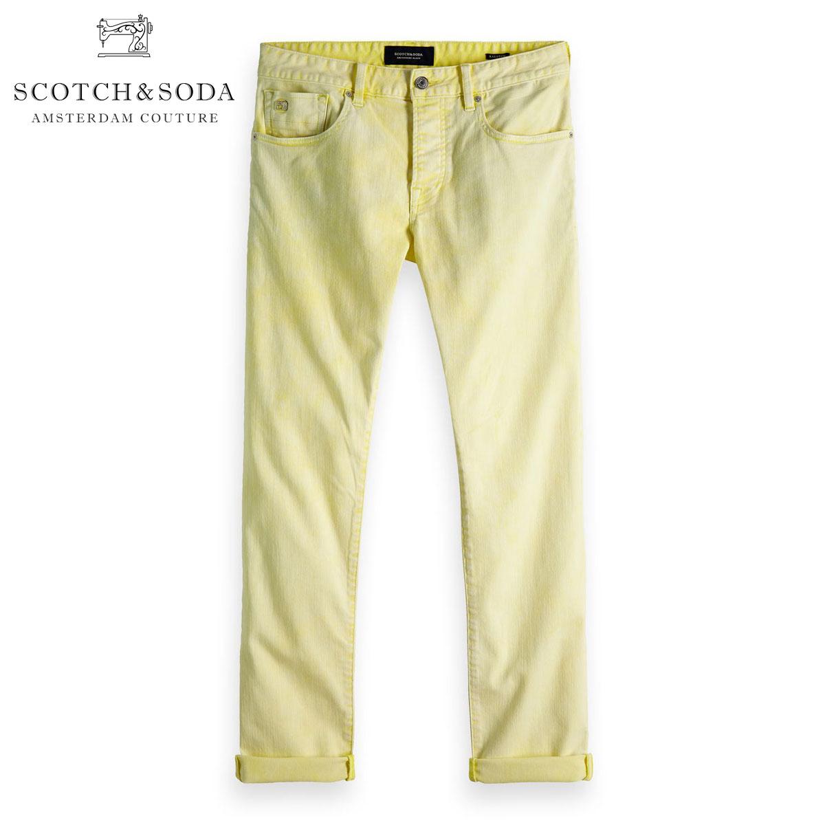 予約商品 12月頃入荷予定 スコッチアンドソーダ ジーンズ メンズ 正規販売店 SCOTCH&SODA カラーデニム ジーパン RALSTON - ACID WASH COLORS SUNBLEACH YELLOW 150921 85508 41 D