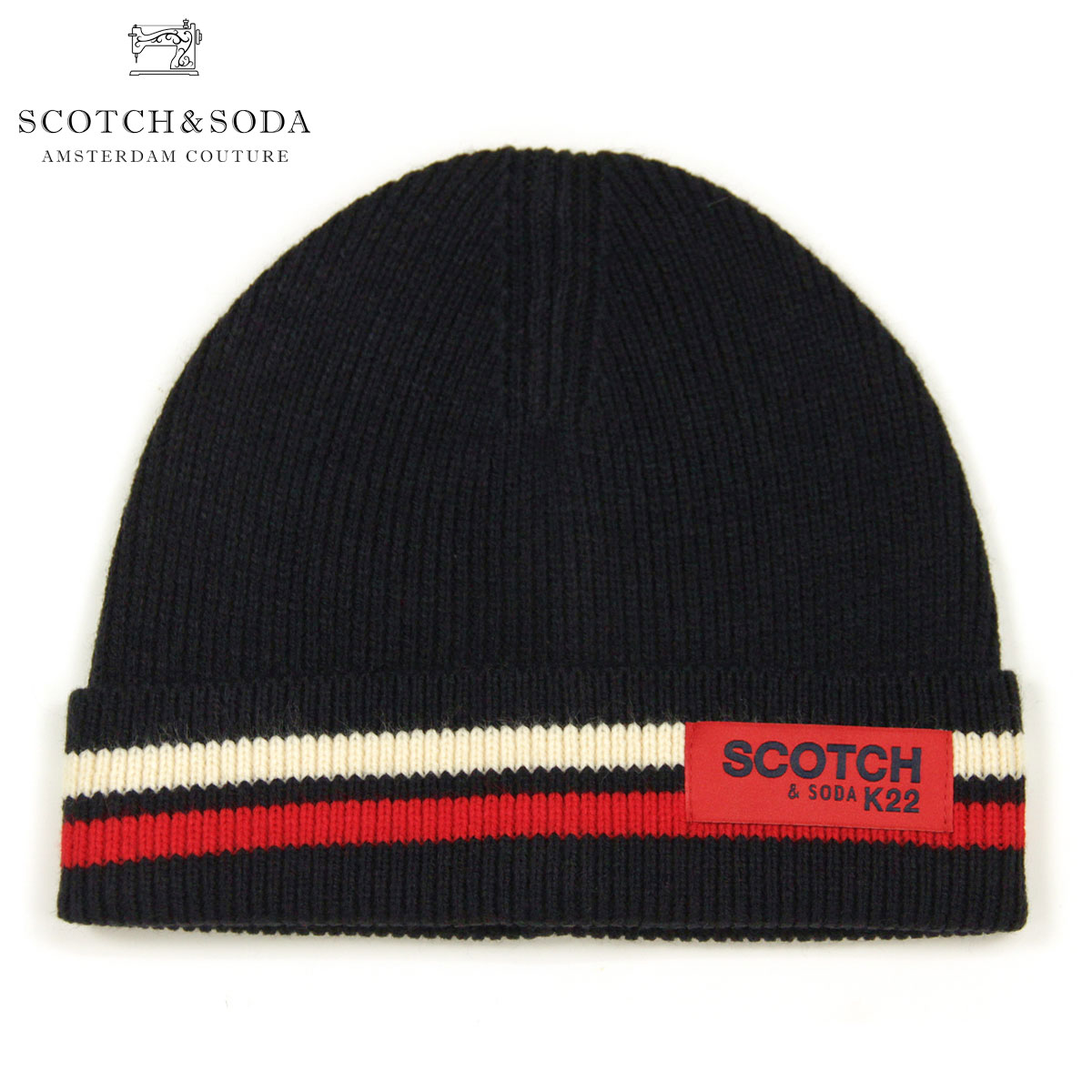 ff3969325 Is going to be received reservation product about November; Scotch Whiskey  and soda cap men's regular store SCOTCH & SODA knit cap hat CLASSIC RIB ...