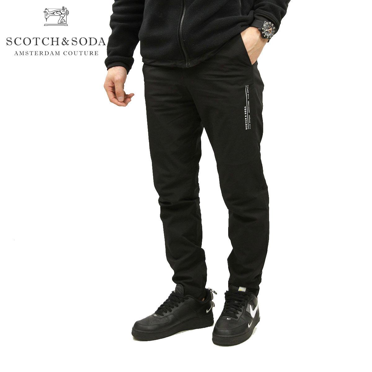 予約商品 1月頃入荷予定 スコッチアンドソーダ ナイロンパンツ メンズ 正規販売店 SCOTCH&SODA ボトムス CLUB NOMADE CHIC & SPORTY PANT I D 154238 0008 13504 08 BLACK