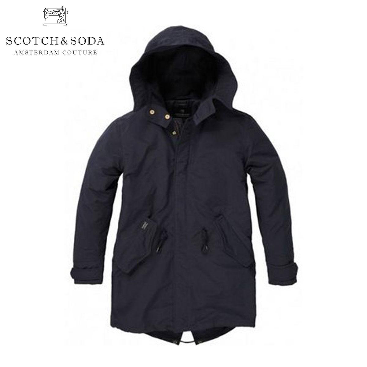 スコッチアンドソーダ SCOTCH&SODA 正規販売店 メンズ アウターパーカー Long parka 10024 ナイト D35S45