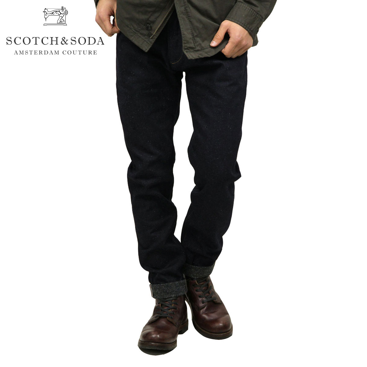 スコッチアンドソーダ ジーンズ メンズ 正規販売店 SCOTCH&SODA ジーパン LOT 22 LOT 22 Dean Sasuga Dry Selvedge 85116 48