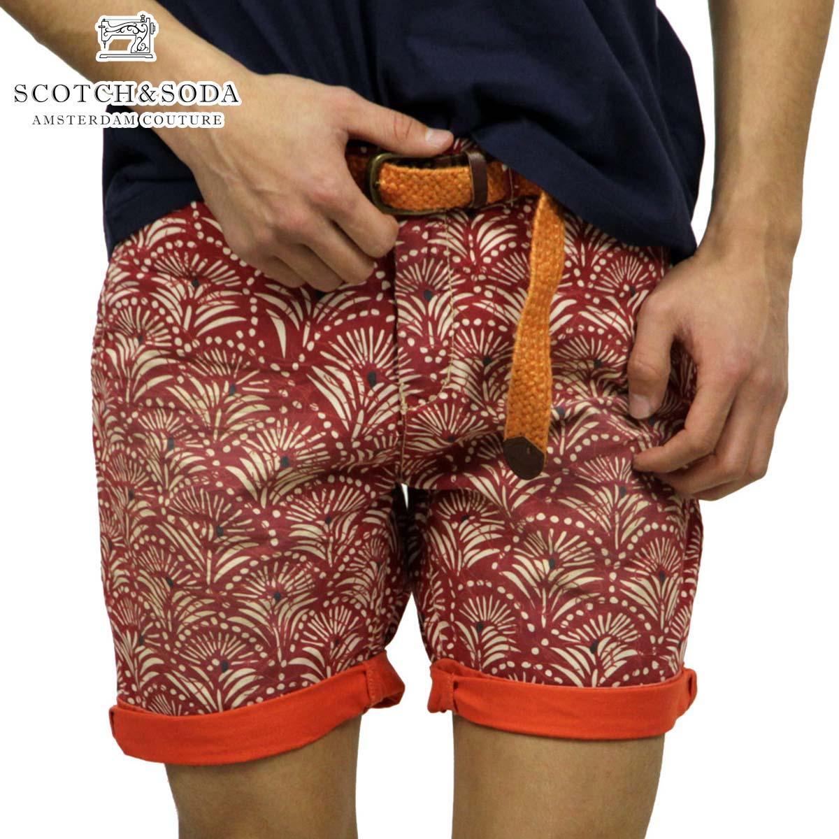 【販売期間 4/2 10:00~4/8 09:59】 スコッチアンドソーダ SCOTCH&SODA 正規販売店 メンズ ショートパンツ Chino short slim fit with fixed roll-up 81106 B D15S25