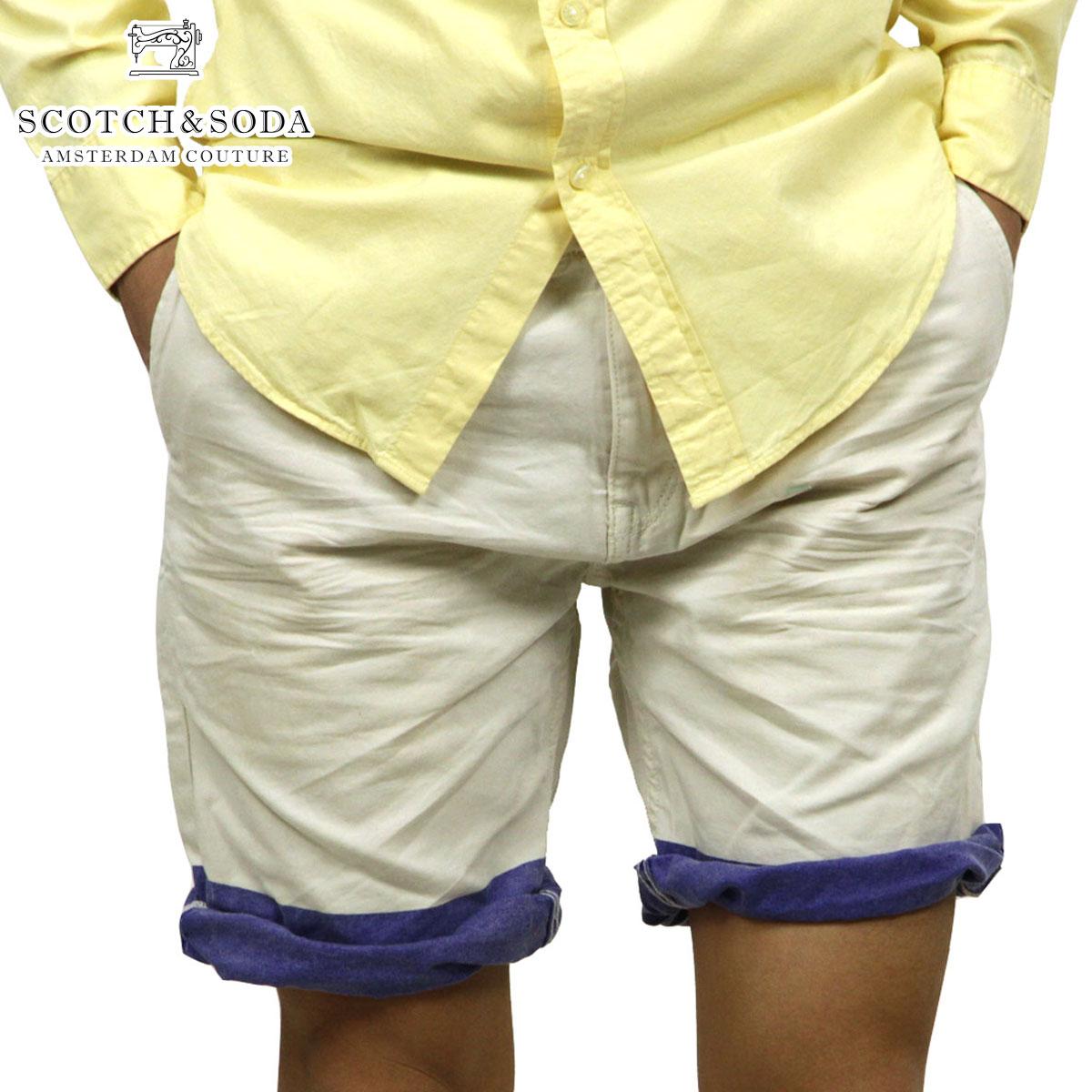 スコッチアンドソーダ SCOTCH&SODA 正規販売店 メンズ ショートパンツ Freeman Chino short - Canvas Garment Dyes 87093 13 D15S25