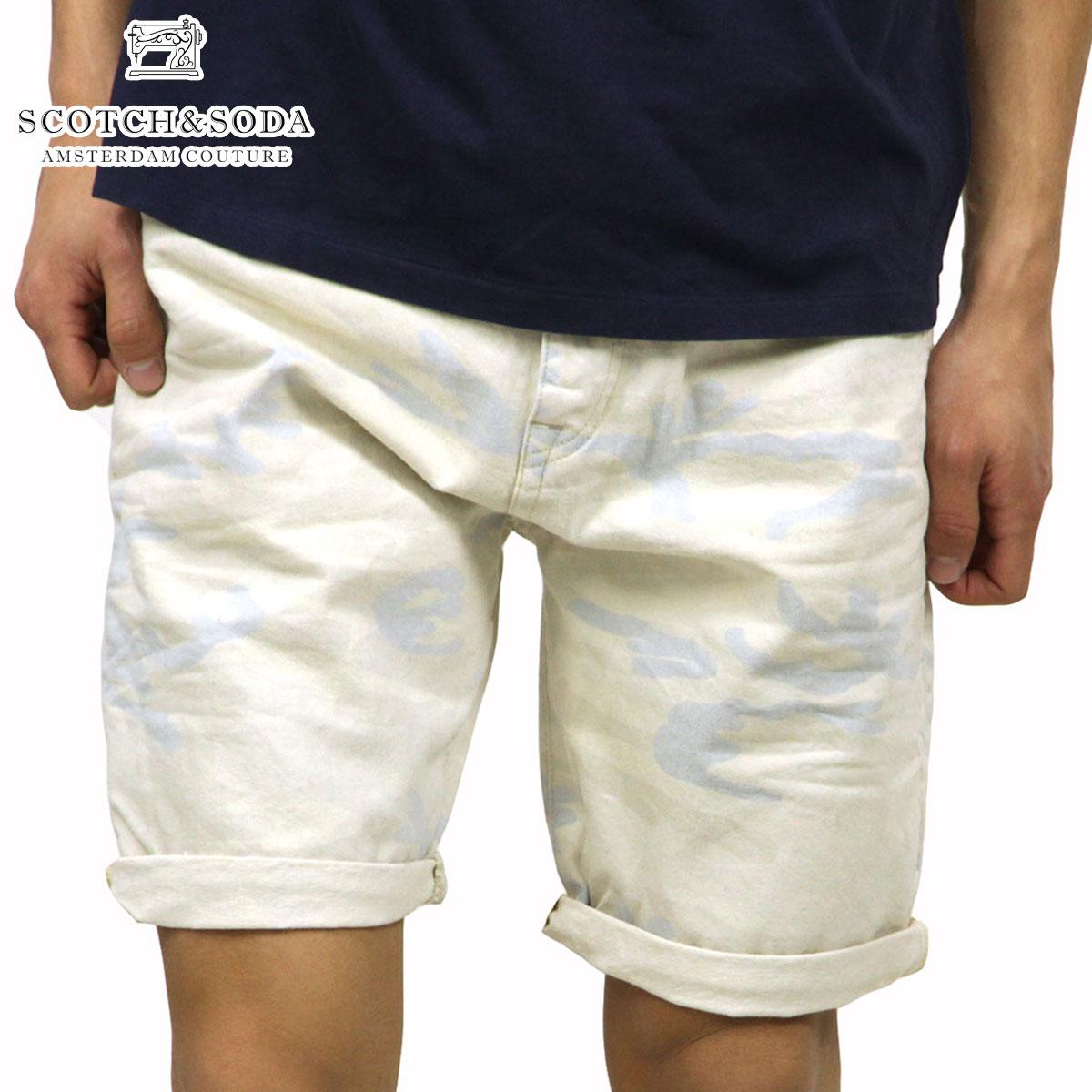 【販売期間 5/20 10:00~5/30 09:59】 スコッチアンドソーダ SCOTCH&SODA 正規販売店 メンズ ショートパンツ Stump Chino - Faded Camo short 87098 05 D15S25