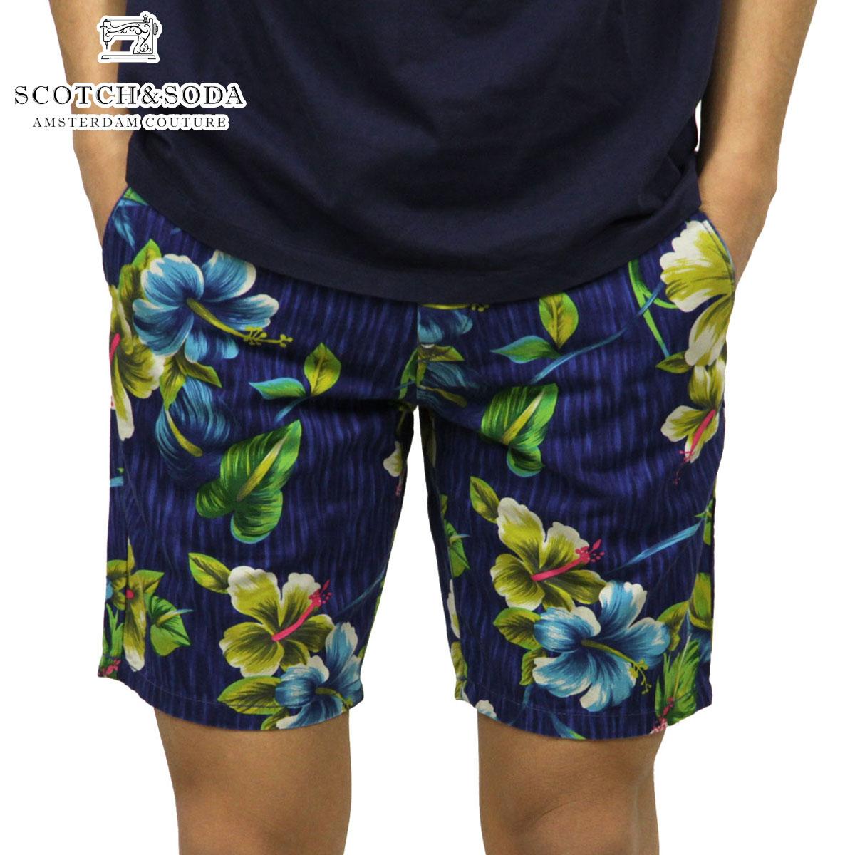スコッチアンドソーダ SCOTCH&SODA 正規販売店 メンズ ショートパンツ Cotton/linen slub beach short 81121 D D15S25