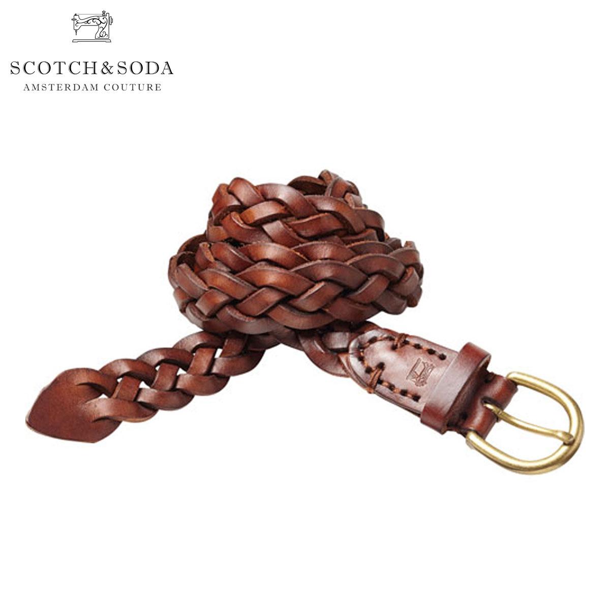 【ポイント10倍 6/4 20:00~6/11 01:59まで】 スコッチアンドソーダ SCOTCH&SODA 正規販売店 メンズ ベルト Woven wax leather belt 76154 82 D15S25 父の日