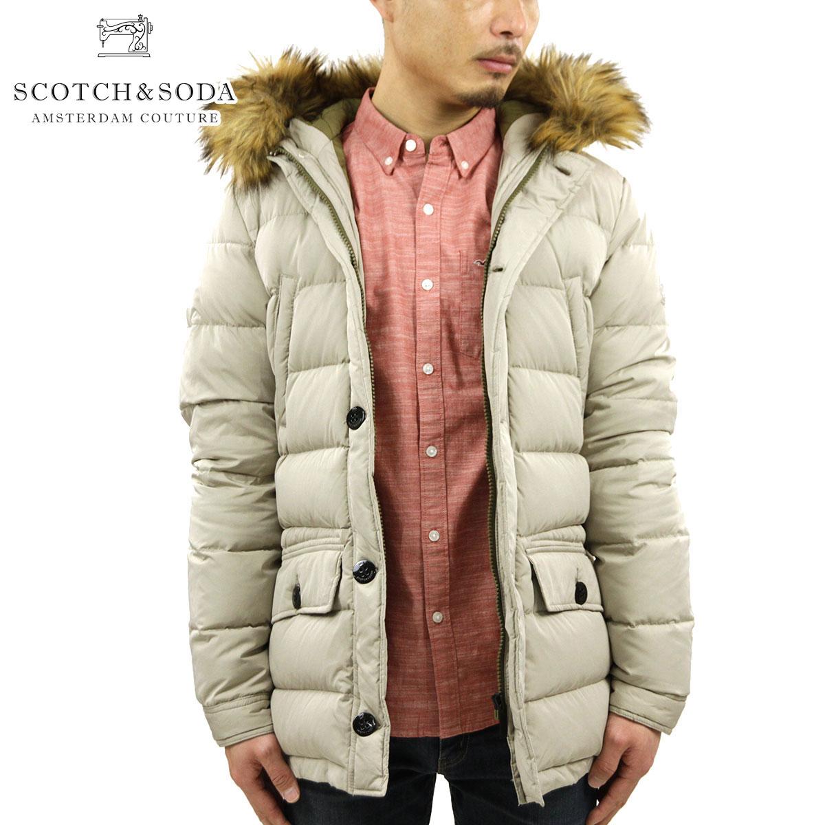 スコッチアンドソーダ SCOTCH&SODA 正規販売店 メンズ アウタージャケット Long hooded jacket with fake fur at hood edge 10014 08 D15S25