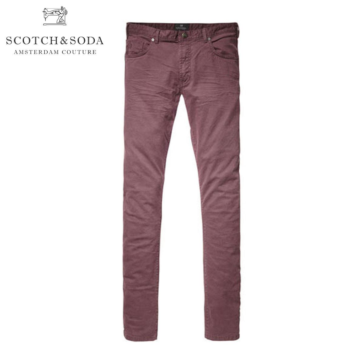 スコッチアンドソーダ ジーンズ メンズ 正規販売店 SCOTCH&SODA ジーパン 5-Pocket super slim fit pant in cotton/elastan quality with peach touch, Dylan 80005 34
