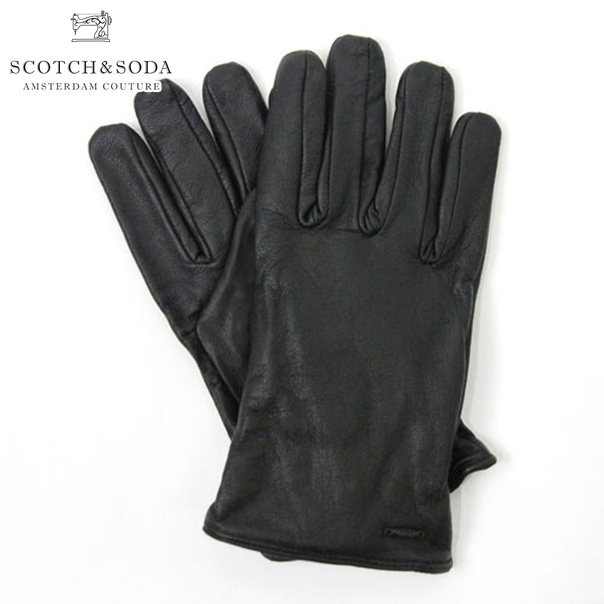 【ポイント10倍 12/4 20:00~12/11 01:59まで】 スコッチアンドソーダ 手袋 メンズ 正規販売店 SCOTCH&SODA グローブ Leather gloves with knitted layer inside 79182 90