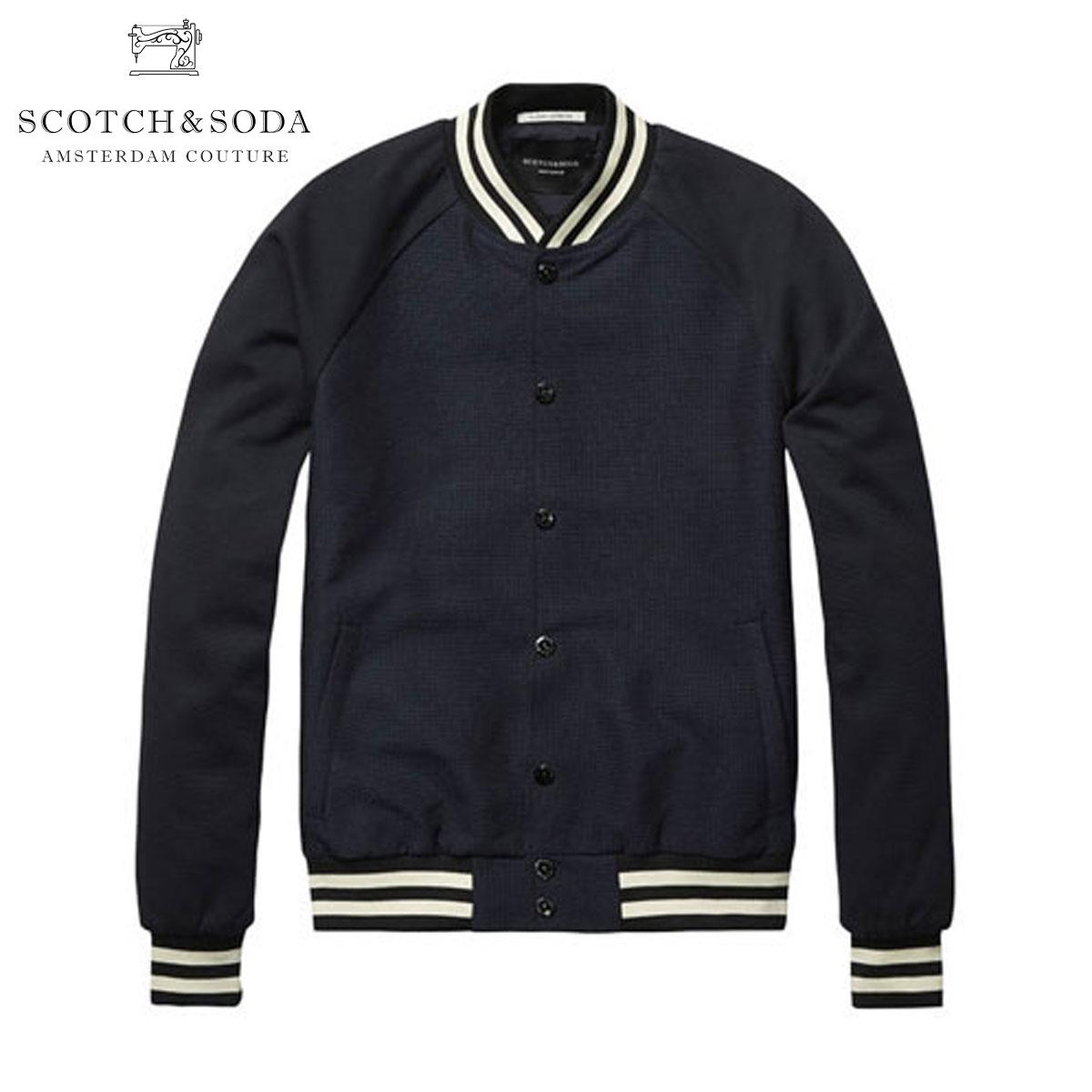 【販売期間 4/2 10:00~4/8 09:59】 スコッチアンドソーダ SCOTCH&SODA 正規販売店 メンズ アウタージャケット Woven bomber jacket with striped ribs 10002 A D15S25