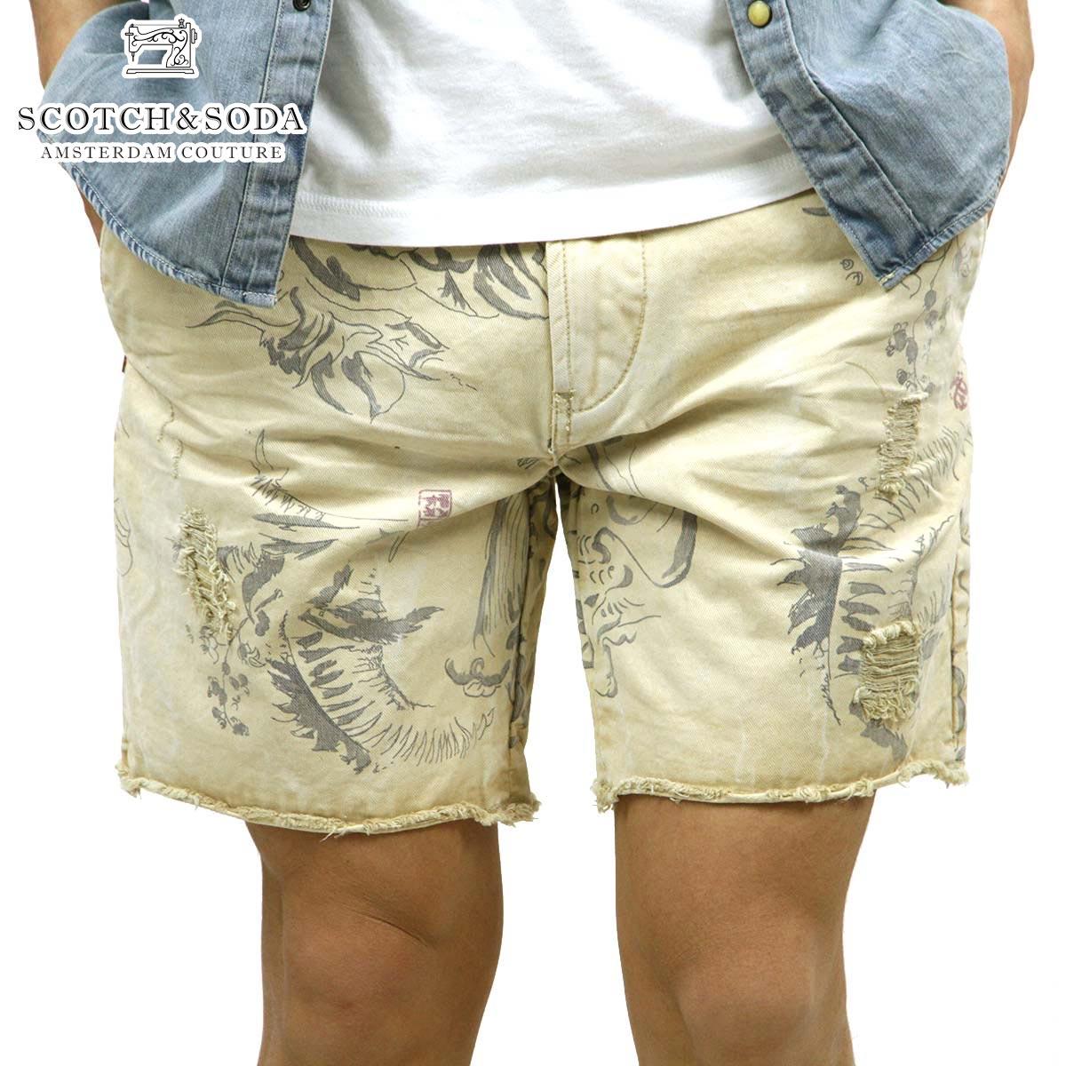 【販売期間 4/2 10:00~4/8 09:59】 スコッチアンドソーダ SCOTCH&SODA 正規販売店 メンズ ショートパンツ