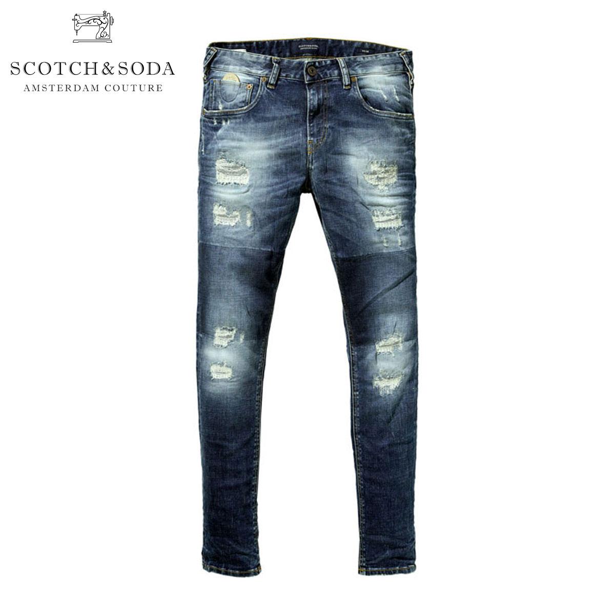 スコッチアンドソーダ SCOTCH&SODA 正規販売店 メンズ ジーンズ Skim - Shake Down Repair 85303 48 D15S25