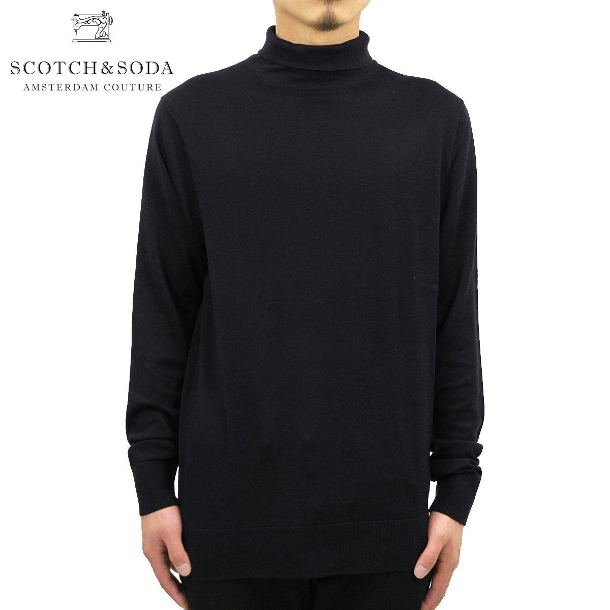 スコッチアンドソーダ Tシャツ メンズ 正規販売店 SCOTCH&SODA 長袖Tシャツ CLASSIC FINE GAUGE TURTLE-NECK