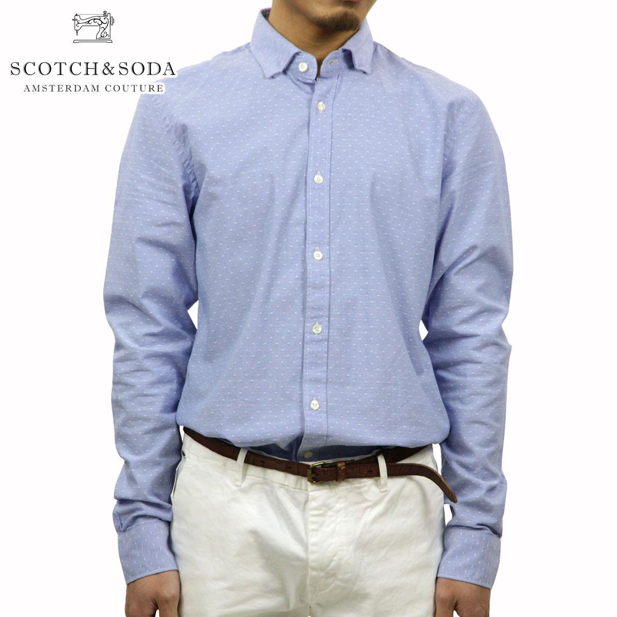 スコッチアンドソーダ SCOTCH&SODA 正規販売店 メンズ 長袖シャツ LONGSLEEVE SHIRT IN OXFORD DOBBY WEAVE 20042 A D00S20
