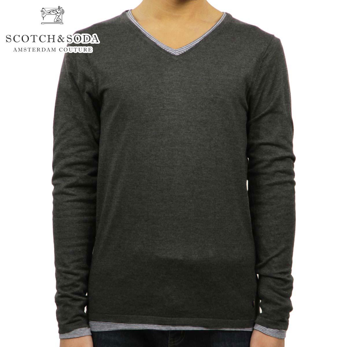 スコッチアンドソーダ SCOTCH&SODA 正規販売店 メンズ セーター COTTON/ACRYLIC V-NECK PULL 60026 910 D00S20