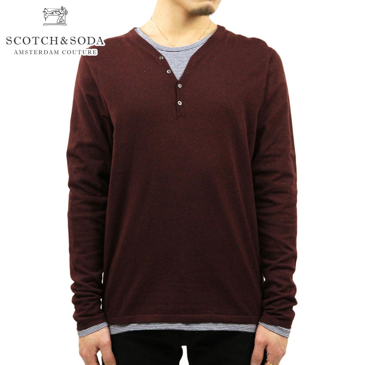 スコッチアンドソーダ SCOTCH&SODA 正規販売店 メンズ セーター CLASSIC COTTON/ACRYLIC GRANDAD PULL 60027 450 D15S25