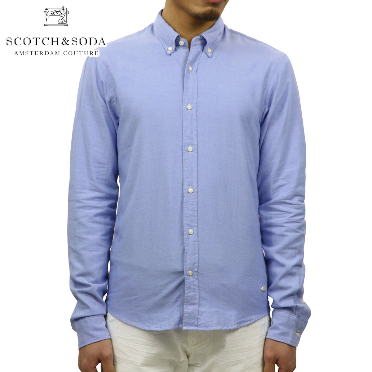 スコッチアンドソーダ SCOTCH&SODA 正規販売店 メンズ 長袖シャツ Classic Lightweight oxford shirt. Sold with cufflinks 130729 50 D15S25