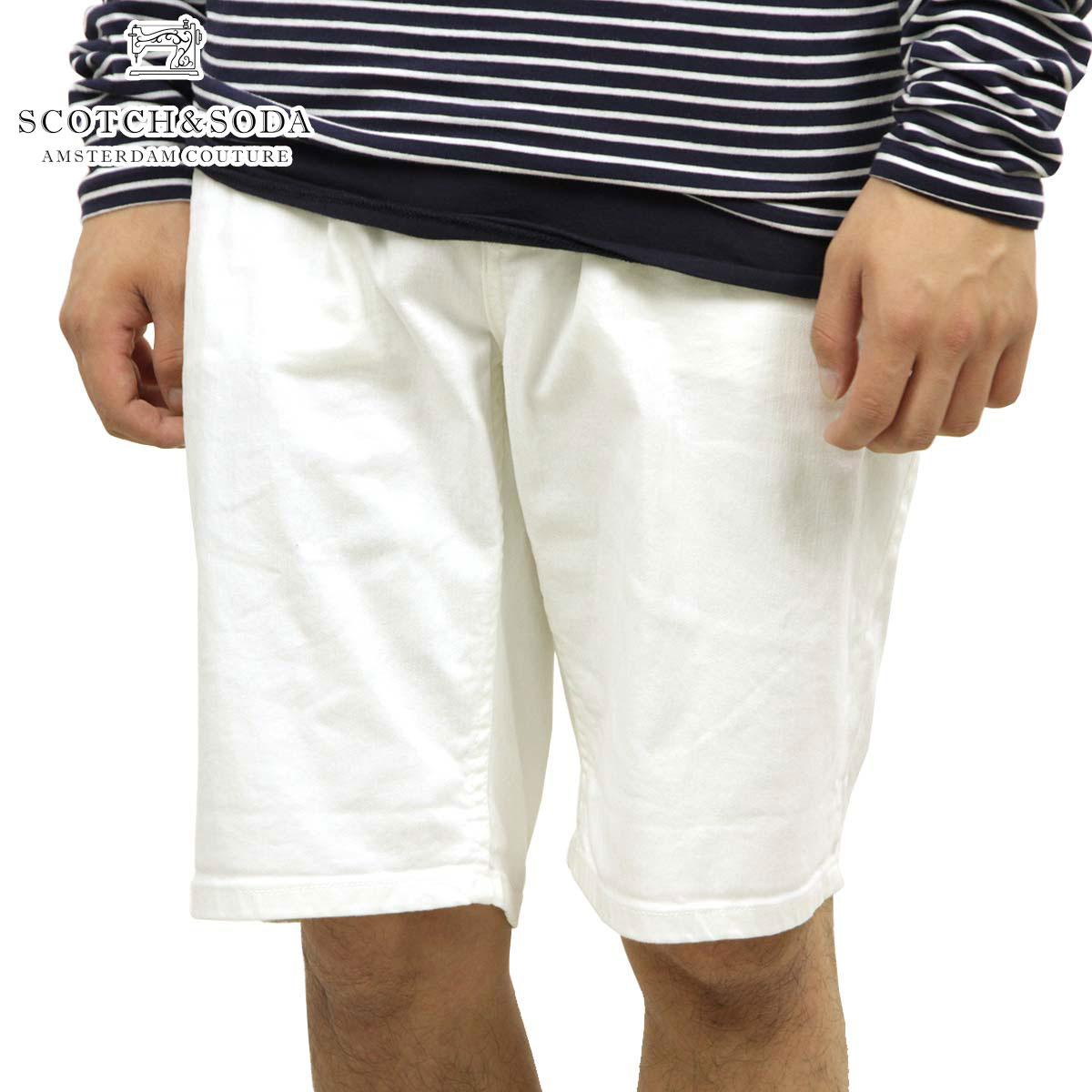 スコッチアンドソーダ SCOTCH&SODA 正規販売店 メンズ ショートパンツ Ralston Short-Optic White 128557 00 D00S15