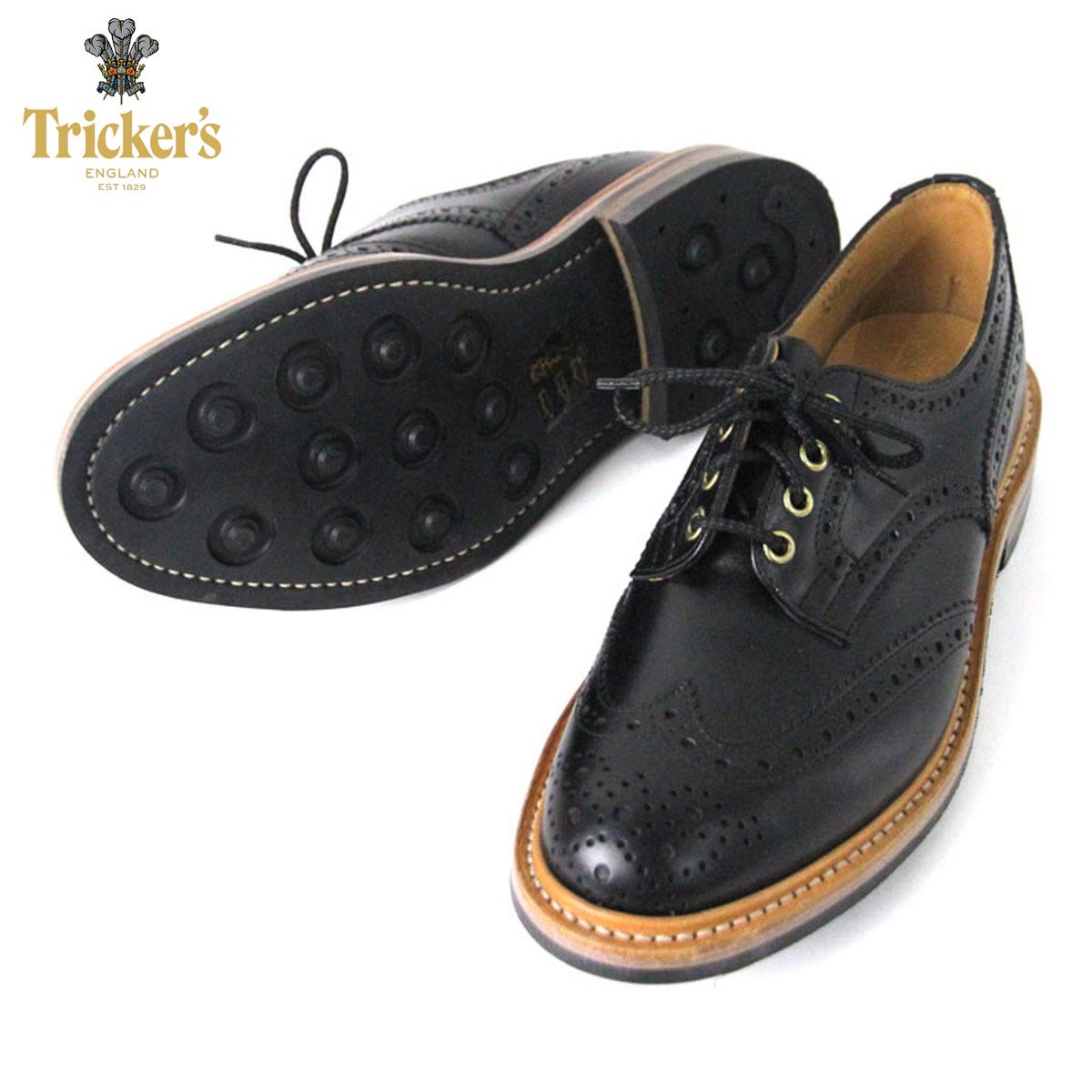 トリッカーズ TRICKERS 正規販売店 カントリーシューズ TRICKER'S M7292 WING TIP SHOES BLACK D20S30 父の日