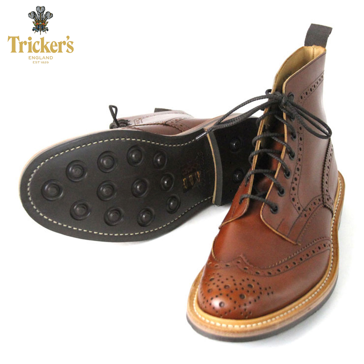 トリッカーズ TRICKERS 正規販売店 カントリーブーツ TRICKER'S M2508 WING TIP SHOES MARRON ANTIQUE D00S20