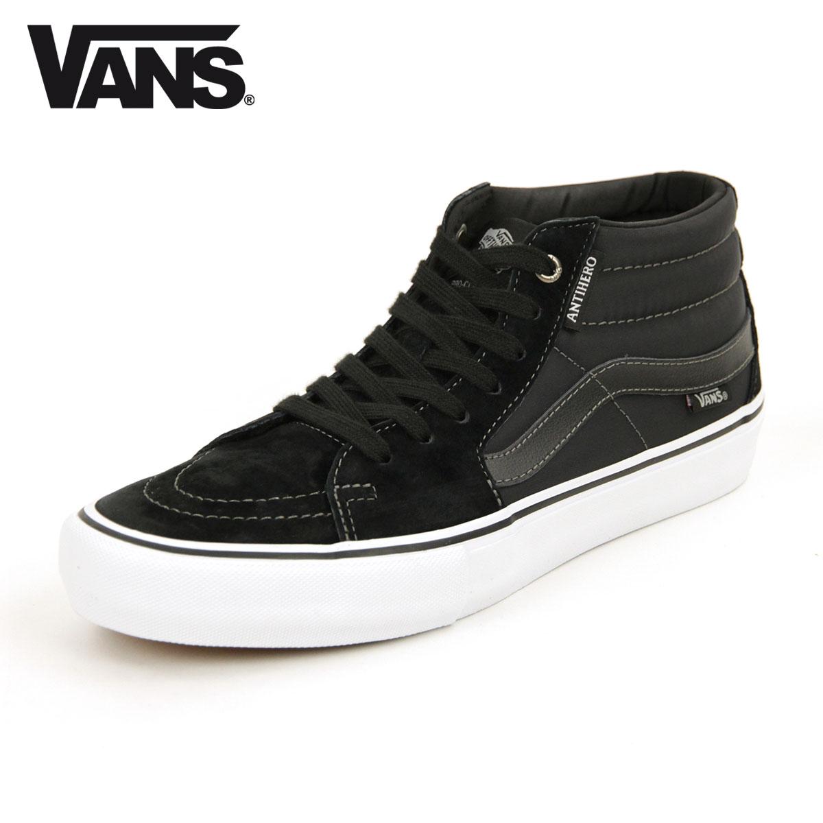 バンズ VANS 正規販売店 メンズ スニーカー スケートミッド プロ VANS SK8-MID PRO GROSSO/BLACK VN0A347UVGD