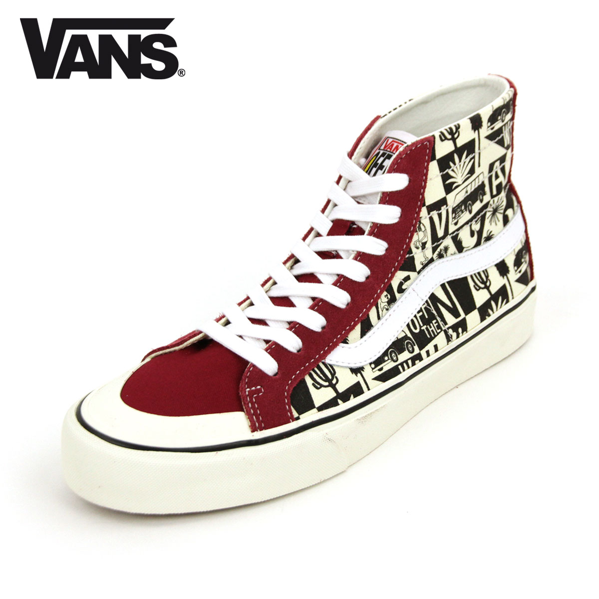 Vans VANS regular store men sneakers skating high VANS SK8 HI 138 DECON SF RUMBA REDMARSHMALLOW VN0A3MV1VSF