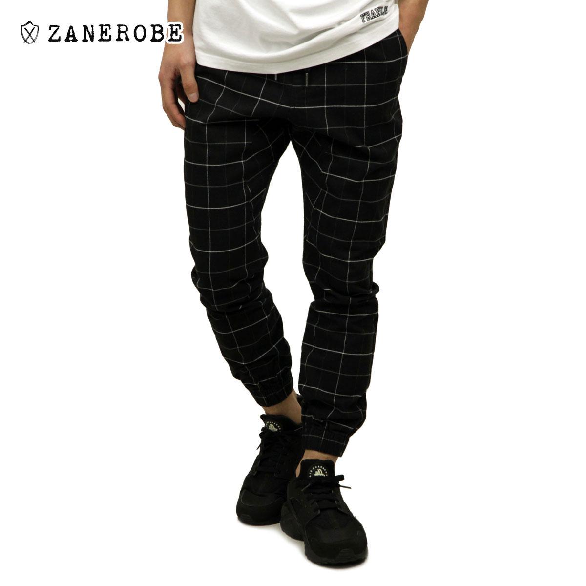 ゼンローブ ZANEROBE 正規販売店 メンズ チノ ジョガーパンツ GRIDLINE SURESHOT PIPELINE CHINO JOGGER PANTS BLACK/WHITE 718-VER