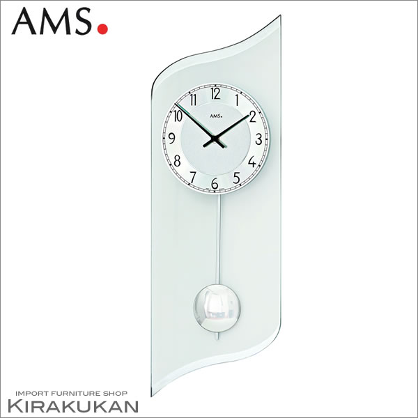 【クーポン配布中】輸入時計【AMS(アームス社ドイツ製).クォーツ・壁掛け時計 AMS-7436】【送料無料】 おしゃれ ドイツ製 時計 掛け時計 置時計 クラシック 時計 モダン 時計 ヨーロッパ時計 ヘルムレ アンティーク時計